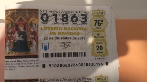 loteria año 2018 navidad