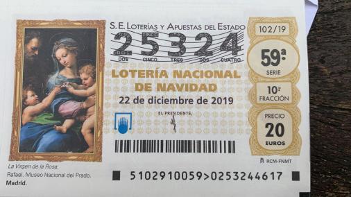 loteria navidad DAD 25324